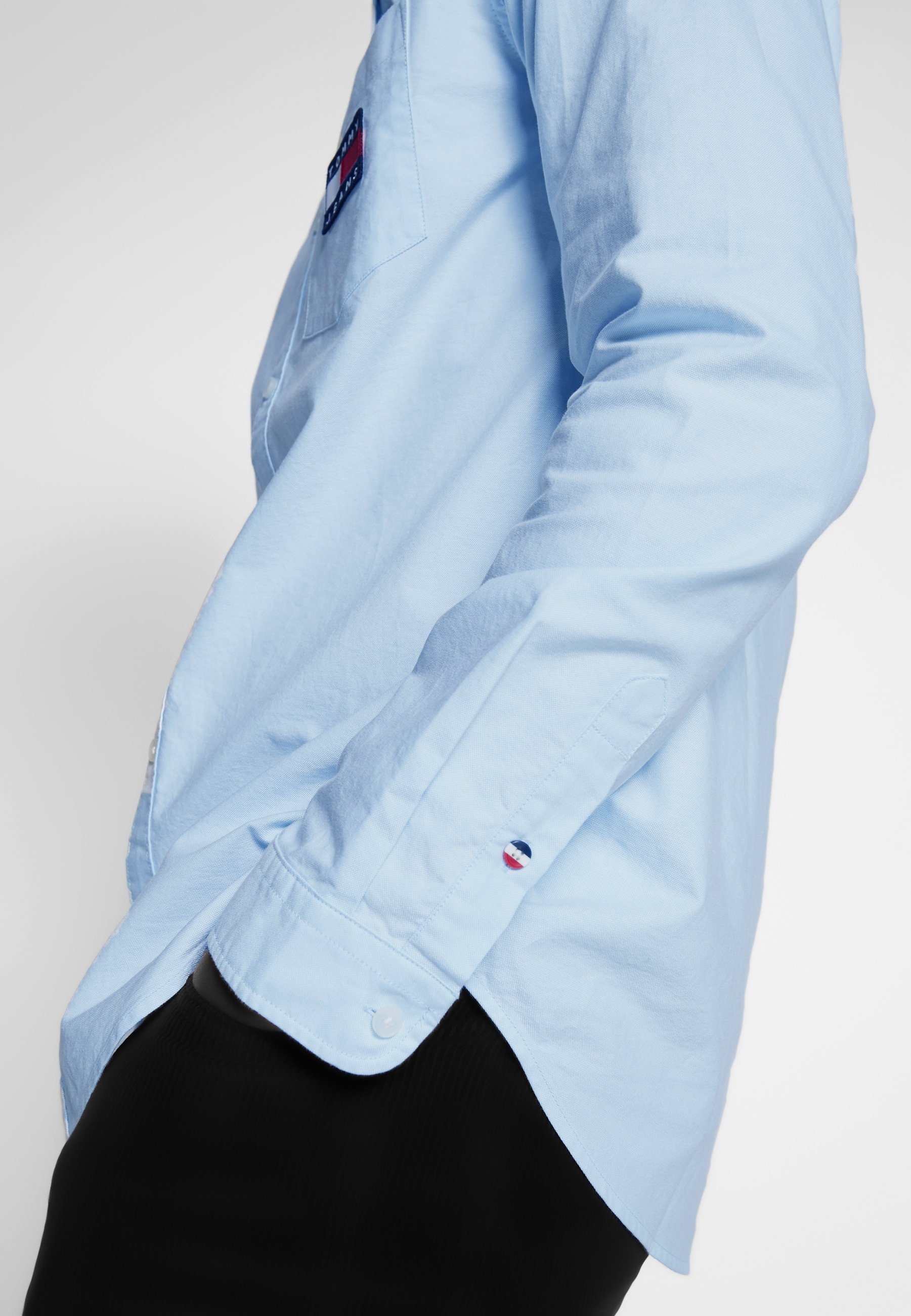 Tommy Jeans OXFORD BADGE - Chemise - shoreside blue
