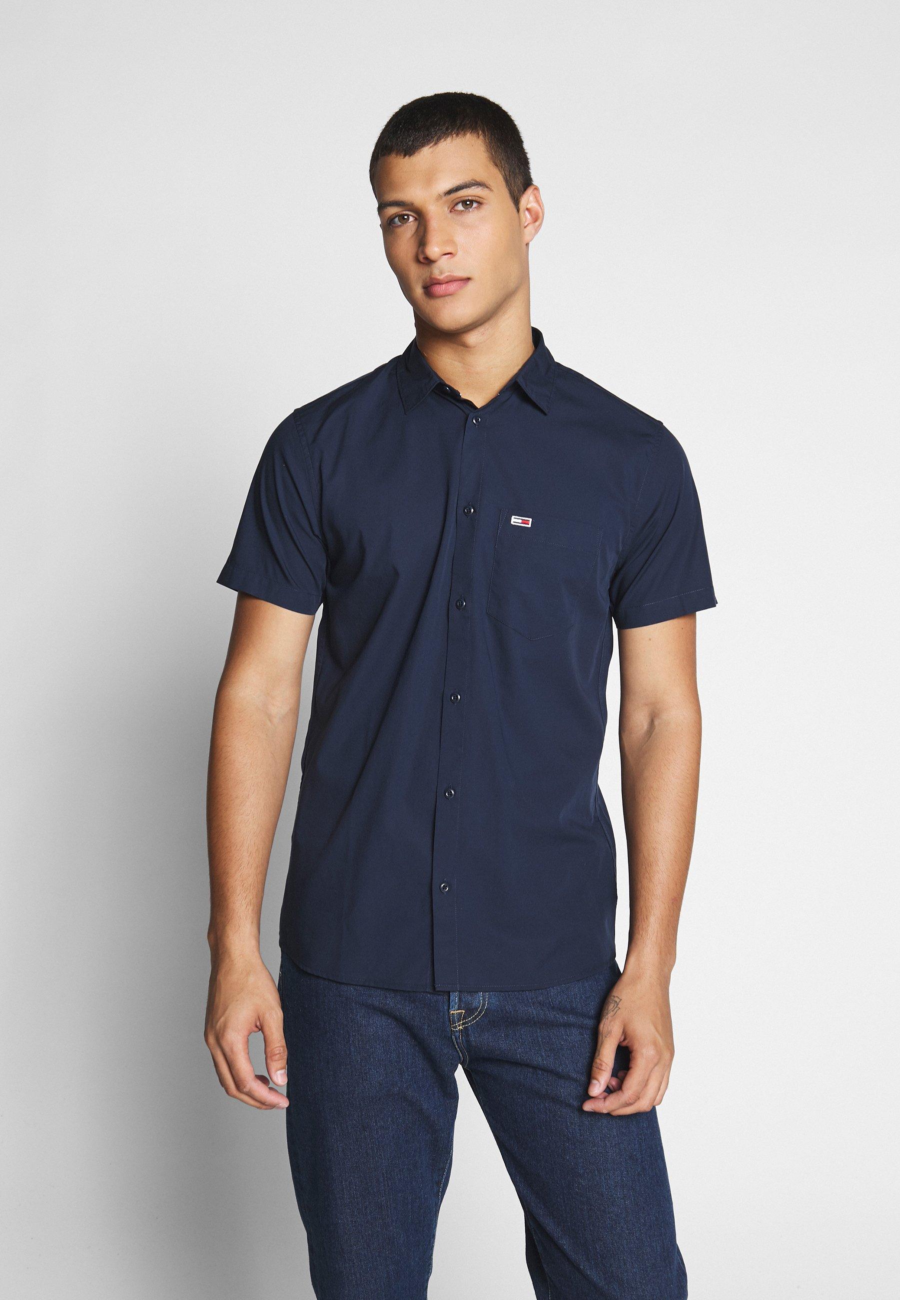 Tommy Jeans SHORTSLEEVE SHIRT - Koszula - twilight navy