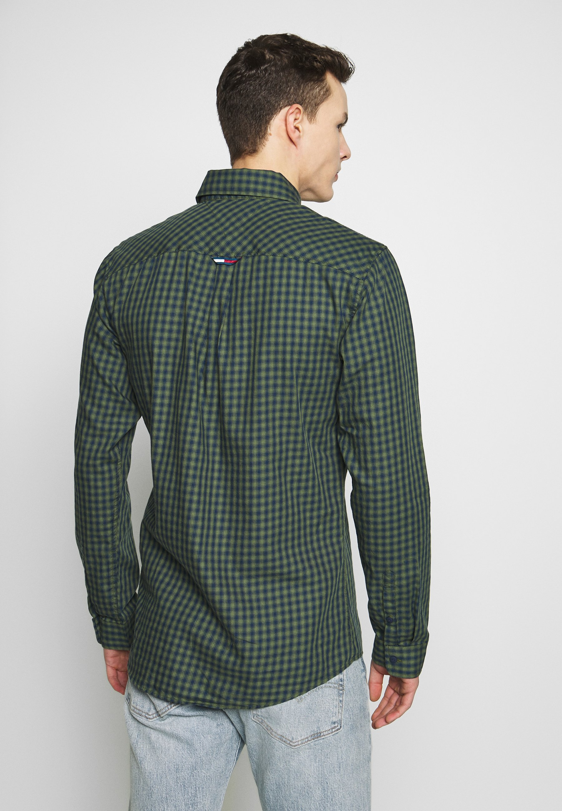 Tommy Jeans Gingham Shirt - Black Iris/cypress UK