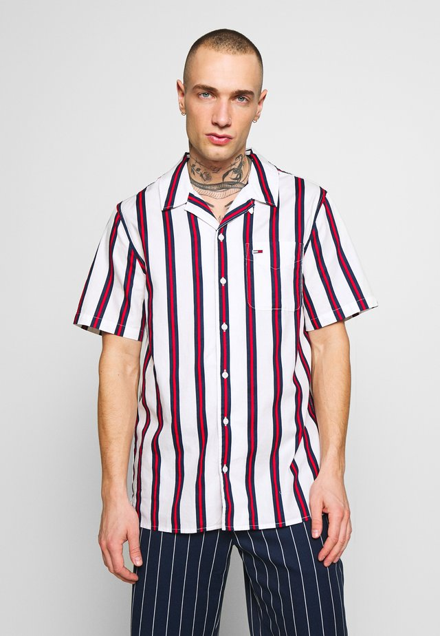 PRINTED STRIPE CAMP SHIRT - Chemise - white/red