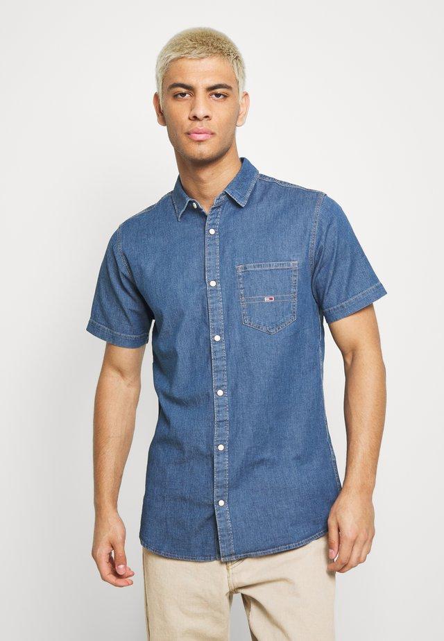 SHORT SLEEVE SHIRT - Overhemd - mid indigo