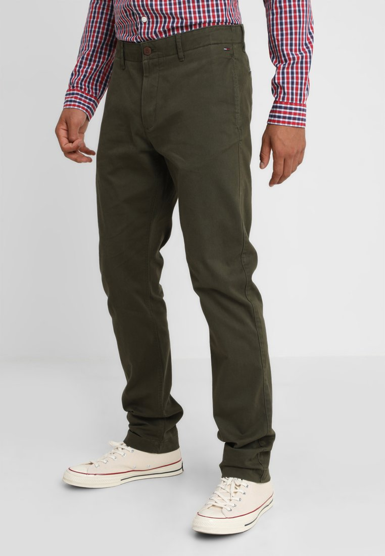 Tommy Jeans - ESSENTIAL SLIM - Chino - green