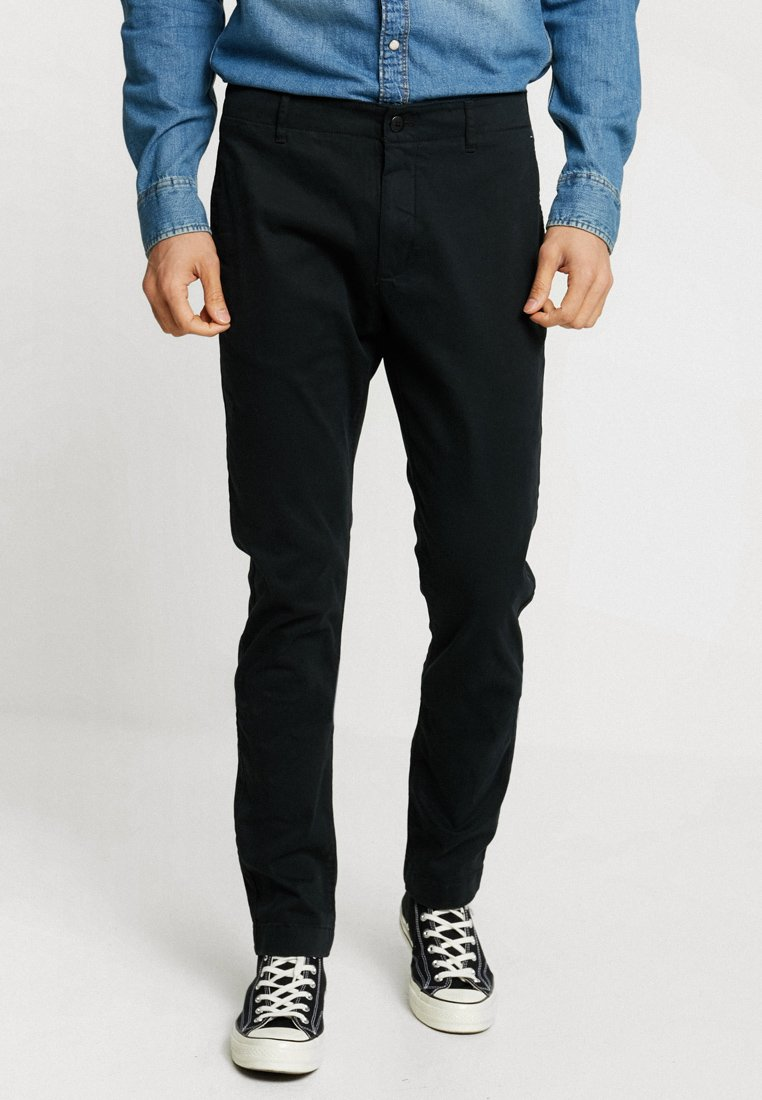 Tommy Jeans - ESSENTIAL SLIM - Chino - black