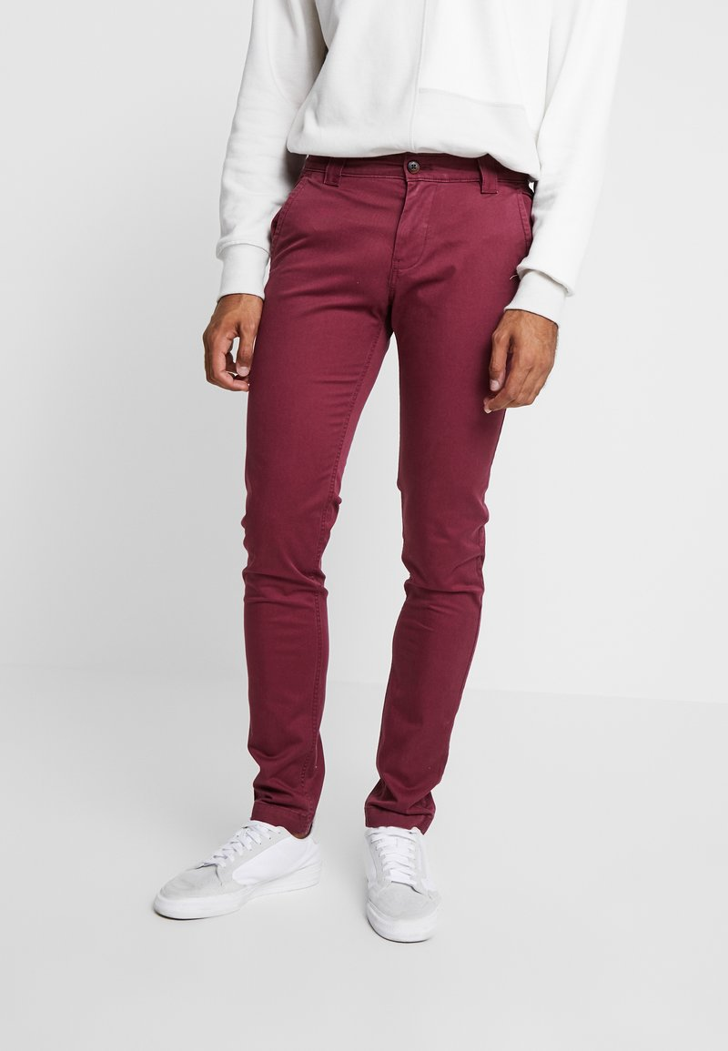 Tommy Jeans - SCANTON PANT - Trousers - burgundy