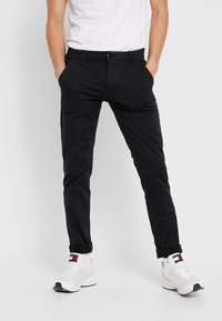 Tommy Jeans - SCANTON PANT - Chino kalhoty - black - 0