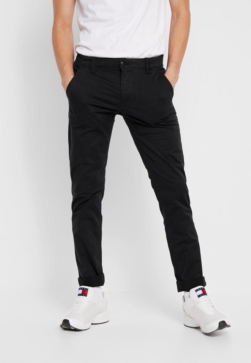 Tommy Jeans - SCANTON PANT - Trousers - black