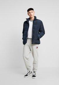 Tommy Jeans - BADGE PANT - Verryttelyhousut - grey - 1