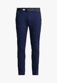 Tommy Jeans - SCANTON DOBBY PANT - Trousers - black iris