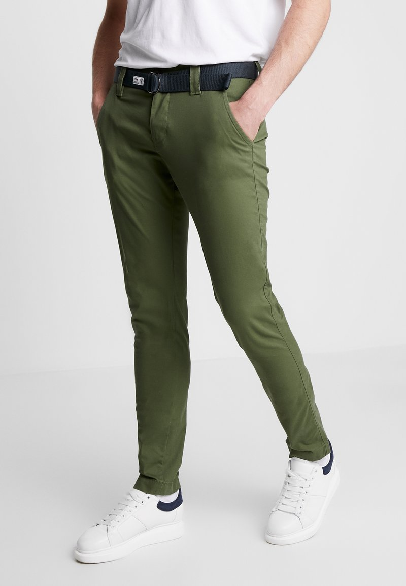 Tommy Jeans - SCANTON DOBBY PANT - Tygbyxor - cypress
