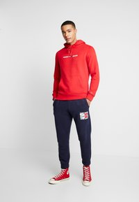 Tommy Jeans - GRAPHIC  - Tracksuit bottoms - dark blue - 1