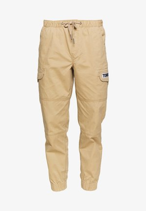 TAPERED CUFFED PANT - Cargo trousers - classic khaki