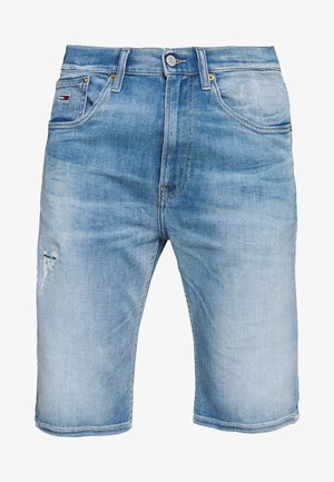REY RELAXED - Szorty jeansowe - quince light blue