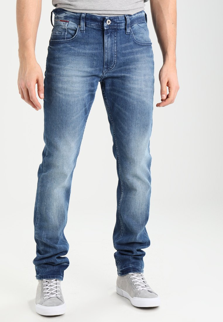 Tommy Jeans - ORIGINAL TAPERED RONNIE BEMB - Jeans Tapered Fit - berry mid blue