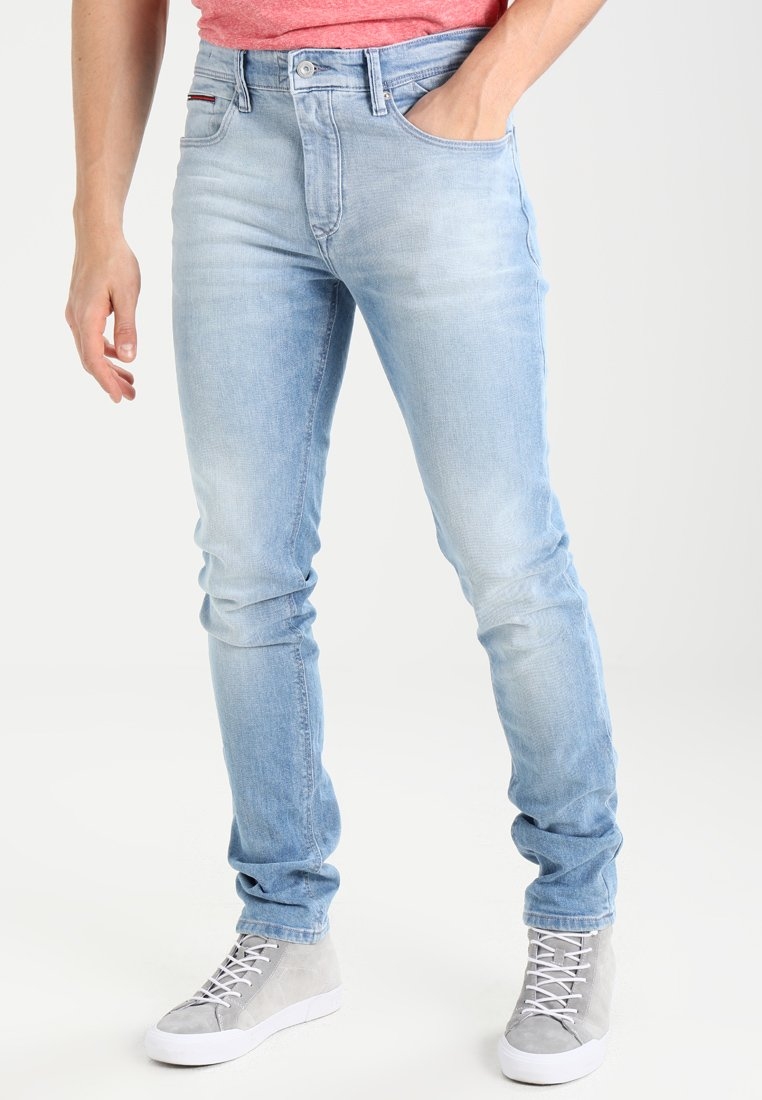 Tommy Jeans - SLIM TAPERED STEVE BELB - Vaqueros slim fit - berry light blue