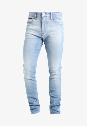 SLIM TAPERED STEVE BELB - Jean slim - berry light blue
