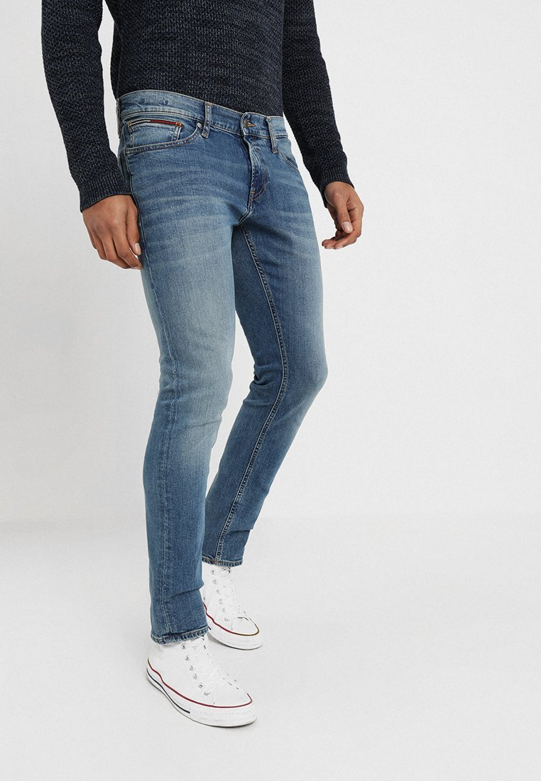 Tommy Jeans - SLIM SCANTON  - Slim fit jeans - blue denim