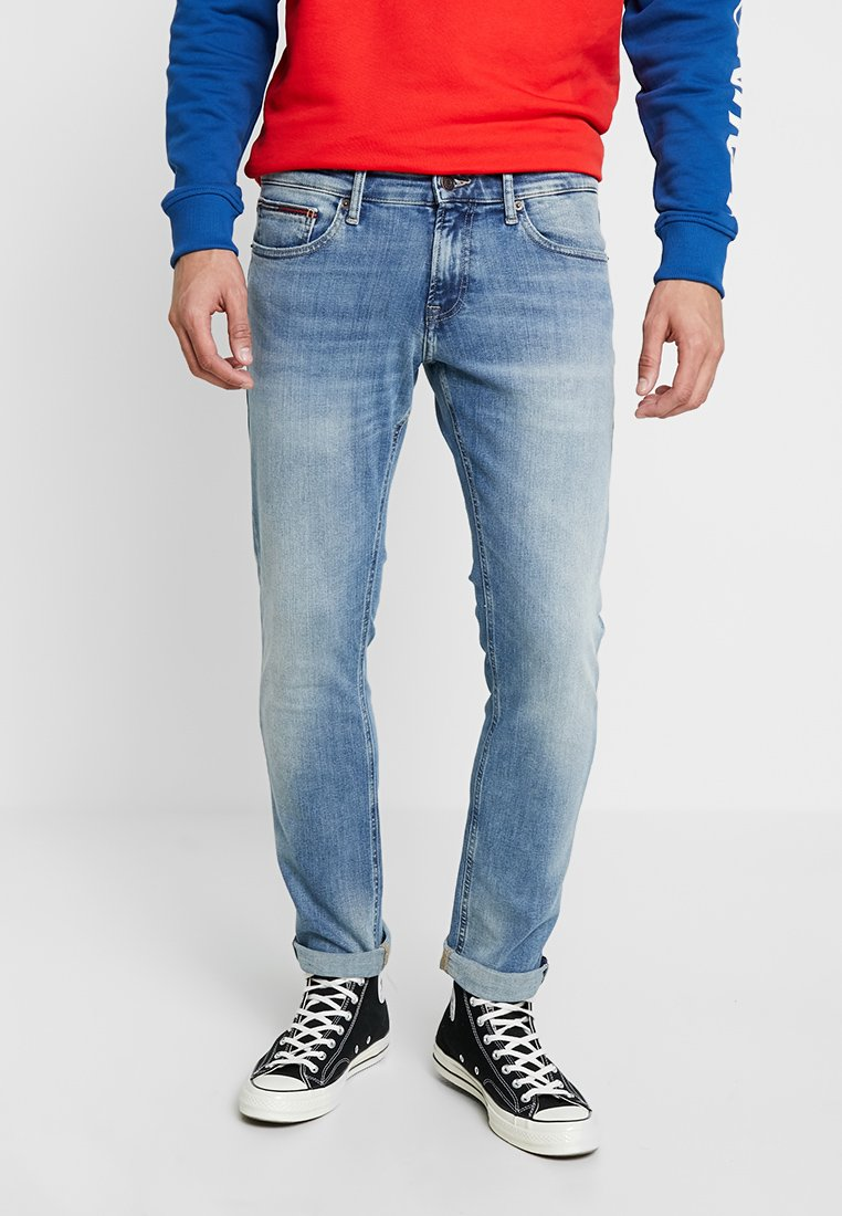 Tommy Jeans - SLIM SCANTON - Slim fit jeans - light blue denim