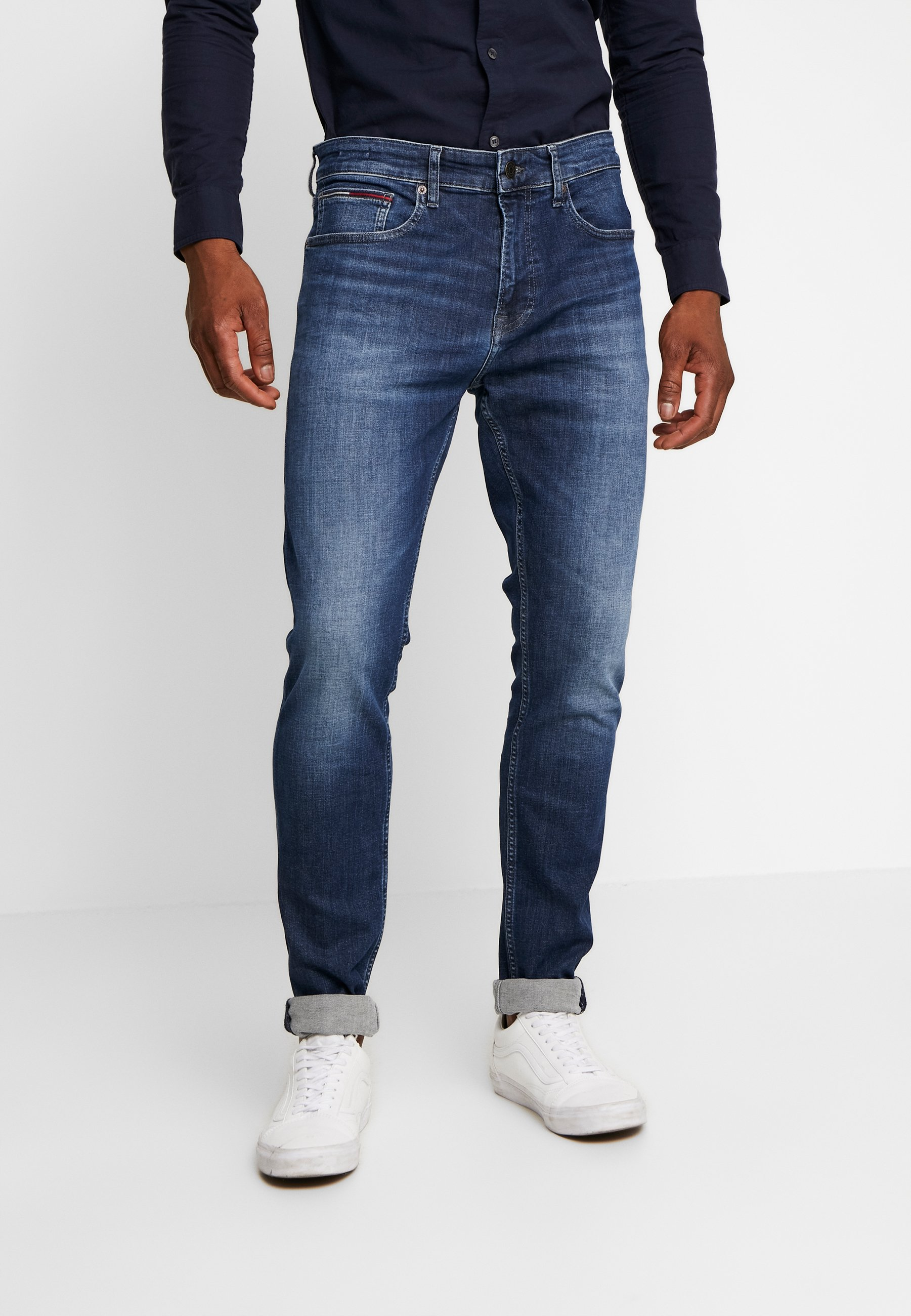 Tommy Jeans STEVE SLIM TAPERED - Jeansy Slim Fit - nassau dark blue