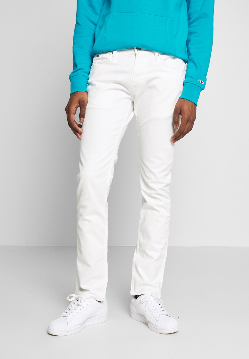 Tommy Jeans - SCANTON HERITAGE - Jeansy Slim Fit - mars white com