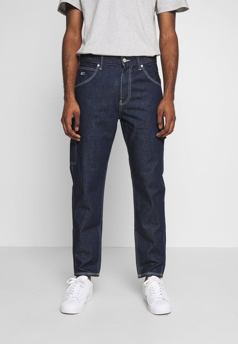 Tommy Jeans - TAPERED CARPENTER - Relaxed fit jeans - dark-blue denim