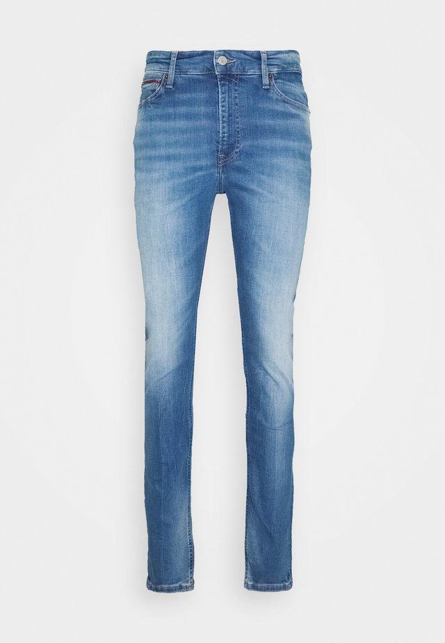 SIMON SKINNY - Jeans Slim Fit - corry mid blue stretch