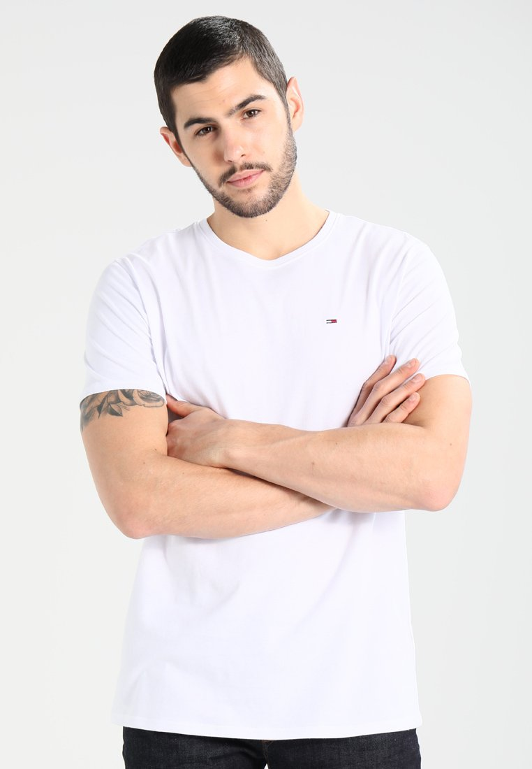 Tommy Jeans - ORIGINAL TEE REGULAR FIT - T-shirt basic - classic white