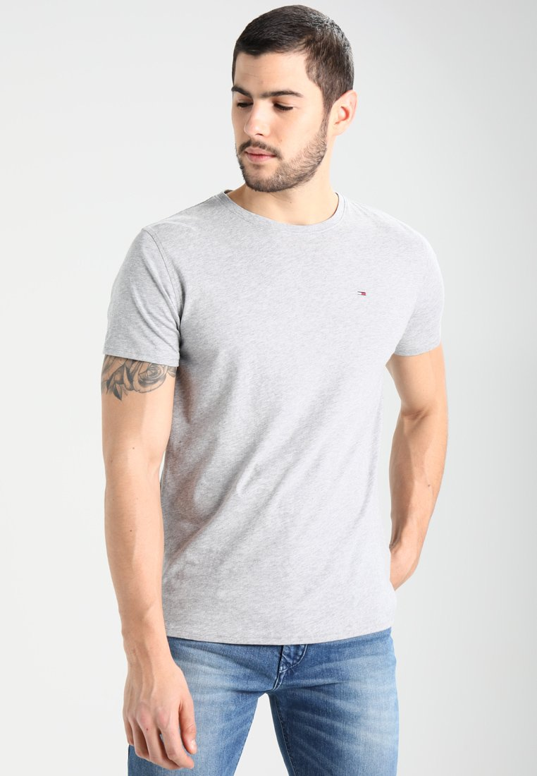 Tommy Jeans - ORIGINAL TEE REGULAR FIT - T-shirts basic - light grey