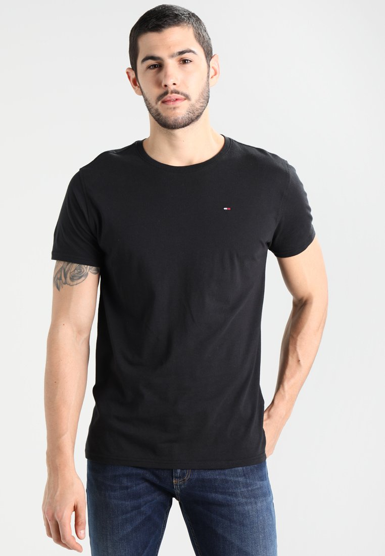 Tommy Jeans - ORIGINAL TEE REGULAR FIT - T-shirt - bas - black