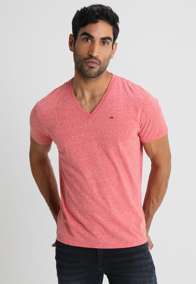 Tommy Jeans - ORIGINAL TRIBLEND V-NECK TEE REGULAR FIT - T-Shirt basic - red