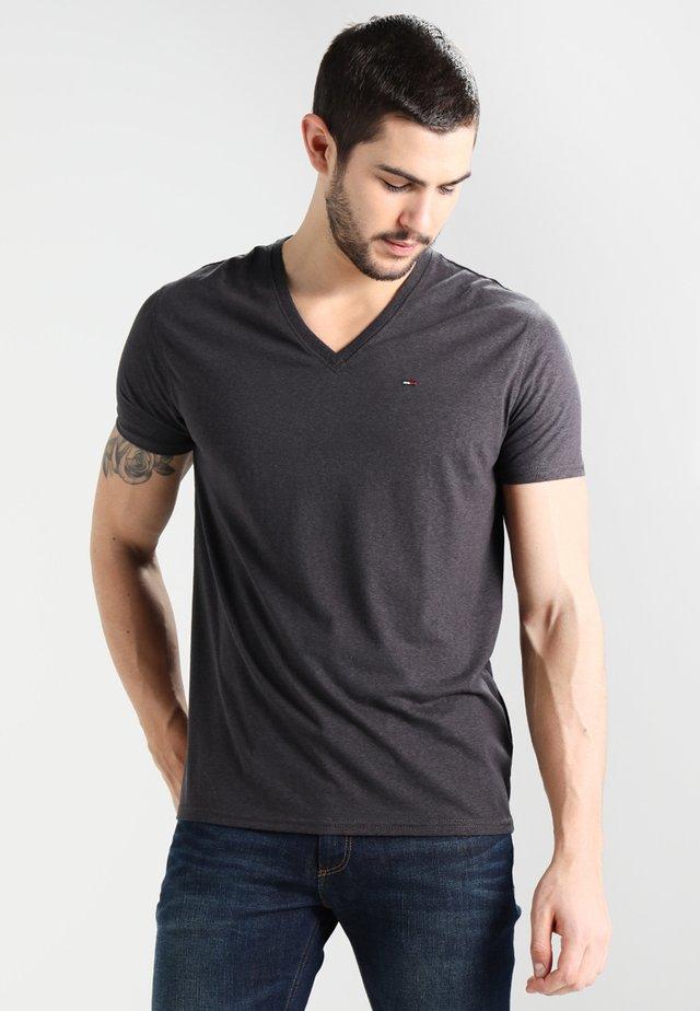 ORIGINAL TRIBLEND V-NECK TEE REGULAR FIT - T-shirt basic - tommy black