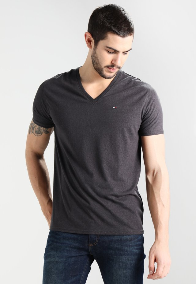 ORIGINAL TRIBLEND V-NECK TEE REGULAR FIT - T-paita - tommy black