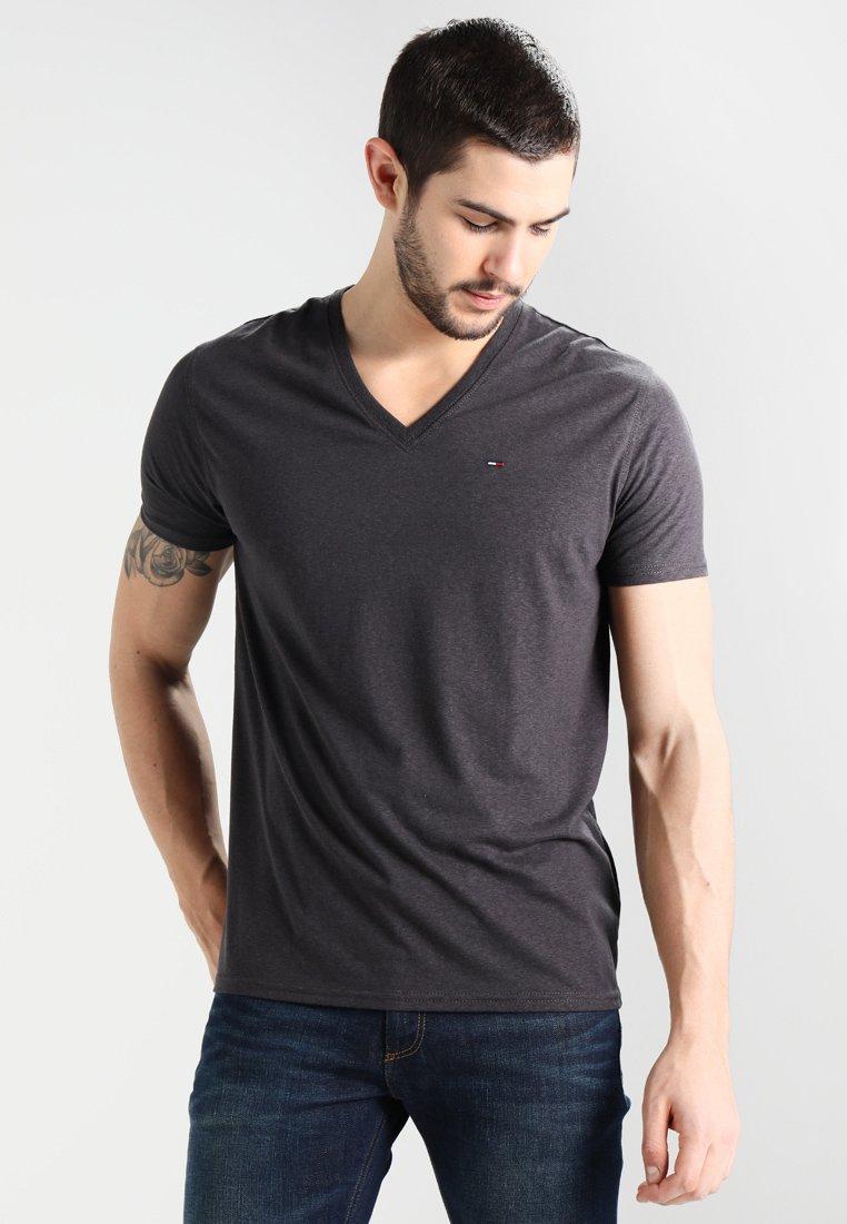 Tommy Jeans - ORIGINAL TRIBLEND V-NECK TEE REGULAR FIT - Basic T-shirt - tommy black