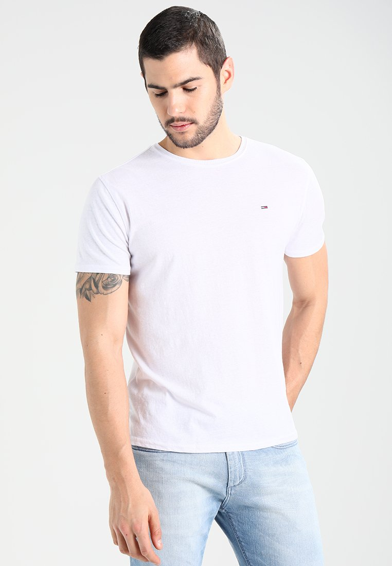 Tommy Jeans - ORIGINAL TRIBLEND REGULAR FIT - T-shirt basic - classic white