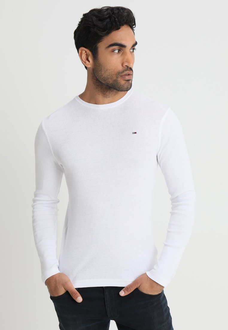 Tommy Jeans - ORIGINAL SLIM FIT - Long sleeved top - classic white