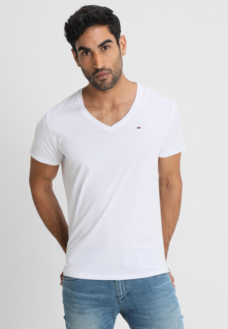 Tommy Jeans - ORIGINAL REGULAR FIT - Basic T-shirt - classic white
