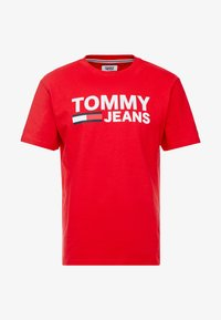 Tommy Jeans - CLASSICS LOGO TEE - T-shirt imprimé - racing red - 4