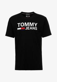 Tommy Jeans - CLASSICS LOGO TEE - Printtipaita - black - 3