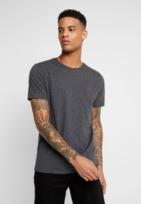 Tommy Jeans - ESSENTIAL SOLID TEE - Basic T-shirt - dark grey heather - 0