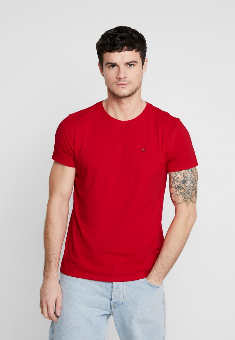 Tommy Jeans - ESSENTIAL SOLID TEE - T-shirt basique - racing red