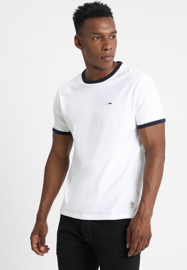 Tommy Jeans - RINGER TEE - T-Shirt print - white