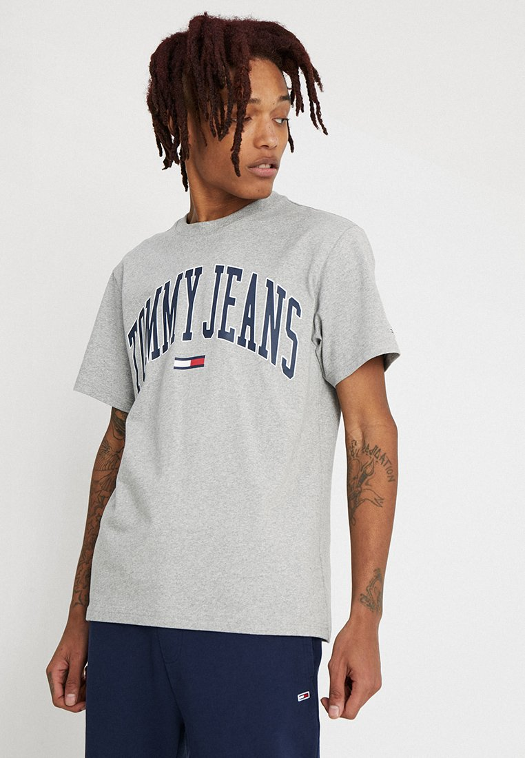 Tommy Jeans - COLLEGIATE LOGO TEE - T-Shirt print - grey