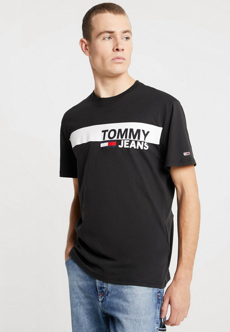 Tommy Jeans - ESSENTIAL BOX LOGO TEE - T-shirt con stampa - black