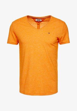 BASIC VNECK TEE SLIM FIT - Basic T-shirt - orange