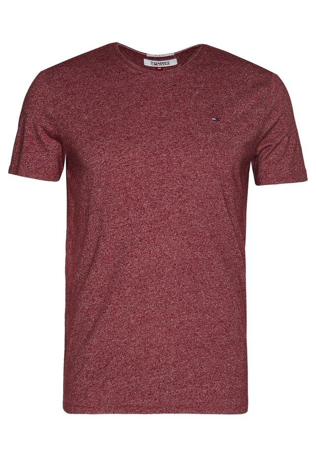ESSENTIAL JASPE TEE - T-Shirt basic - wine red