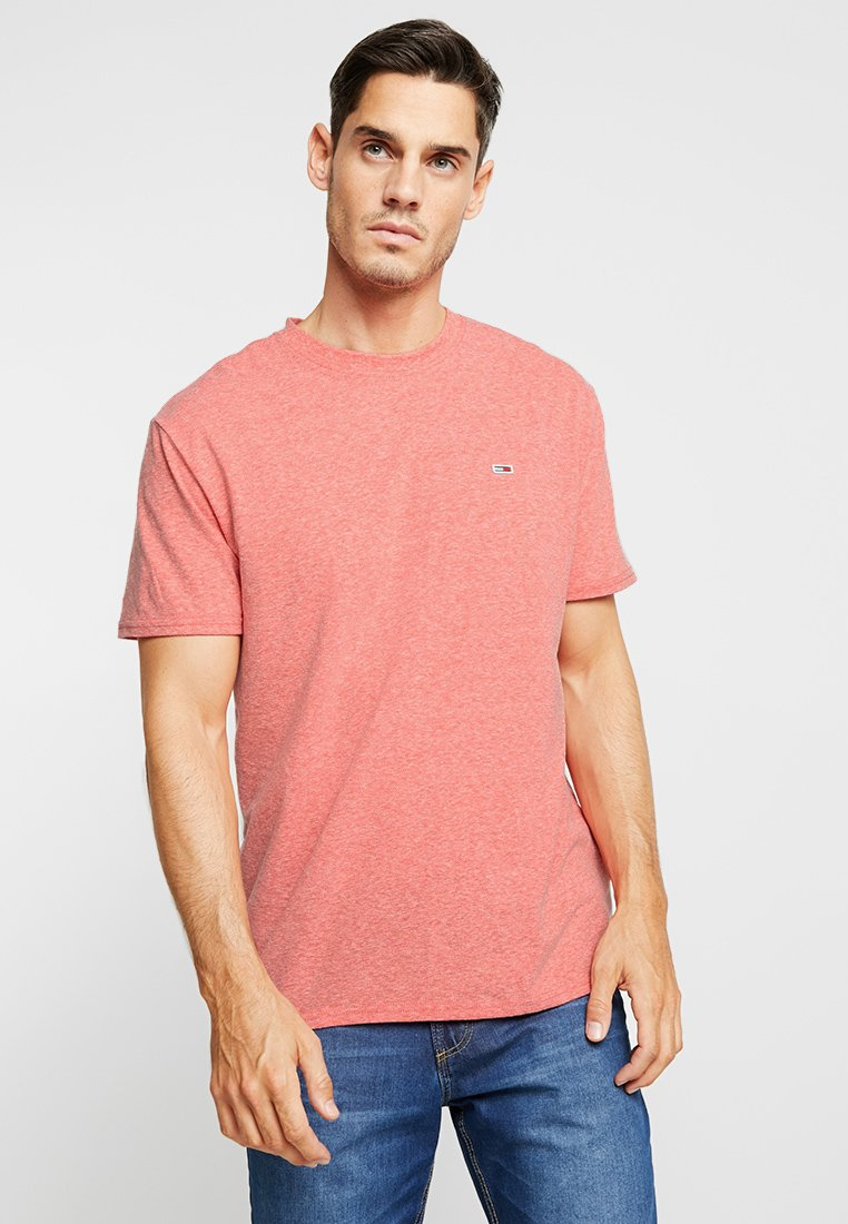 Tommy Jeans - RINGER TEE - Basic T-shirt - red