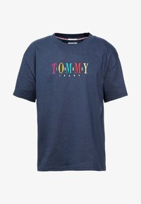 Tommy Jeans - SHORTSLEEVE TEE - T-shirt print - blue - 4