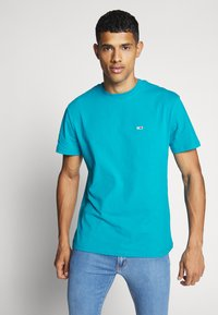 Tommy Jeans - CLASSICS TEE - T-Shirt basic - exotic teal - 0