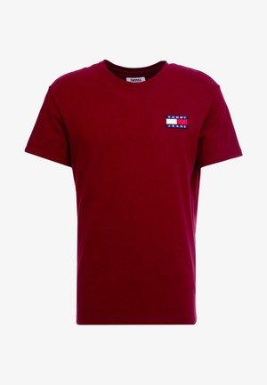 BADGE TEE - T-shirt - bas - burgundy