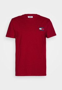 Tommy Jeans - BADGE TEE - T-shirt basic - wine red - 5