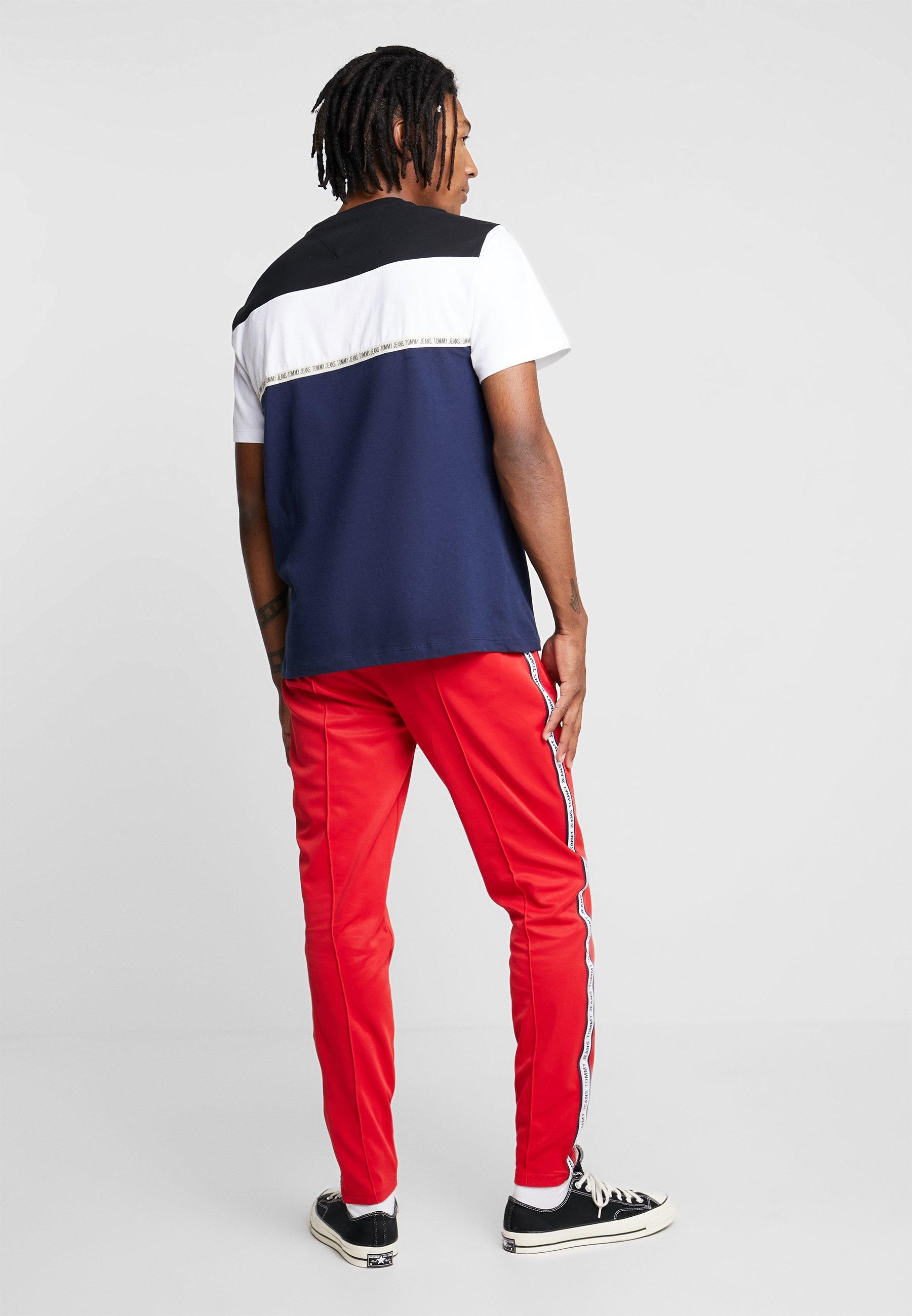 Tommy Jeans Tape Blue TeeT shirt Imprimé Colorblocked TKFJcl1